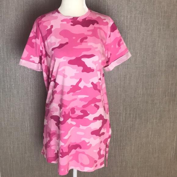 1428789b9d05 Forever 21 Dresses & Skirts - Forever 21 Pink Camo T-Shirt Dress